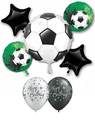 Soccer Balls Birthday Balloon Bouquet 1