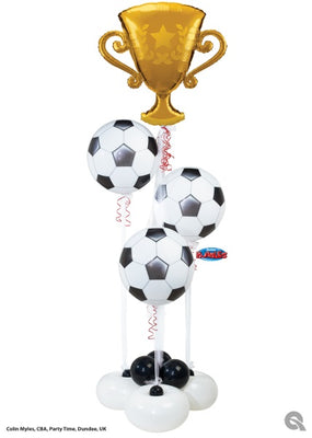 Soccer Trophy Balloon Bouquet Stand Up