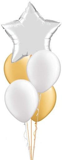 Solid Colour Star Balloon Bouquet of 5