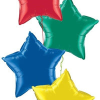 Solid Colour Star Foil Balloon Bouquet of 4