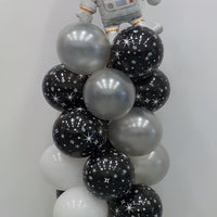 Outer Space Astronaut Balloon Column