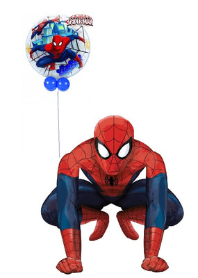 Spider Man Balloon Airwalker with Spider Man Bubble