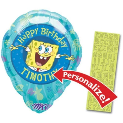 SpongeBob Personalized Birthday 18 inch Foil Balloon