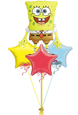 SpongeBob Stars Foil Balloon Bouquet