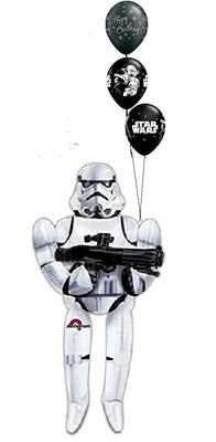 Star Wars 70 inch Storm Trooper AirWalker Birthday Balloon Bouquet