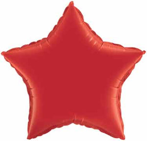 18 inch Red Star Foil Helium Balloon