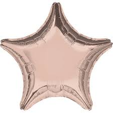36 inch Rose Gold Star Foil