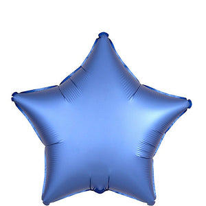 18 inch Satin Royal Blue Star Foil Helium Balloon