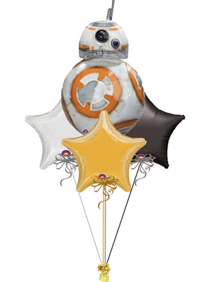 Star Wars BB8 Stars Balloon Bouquet