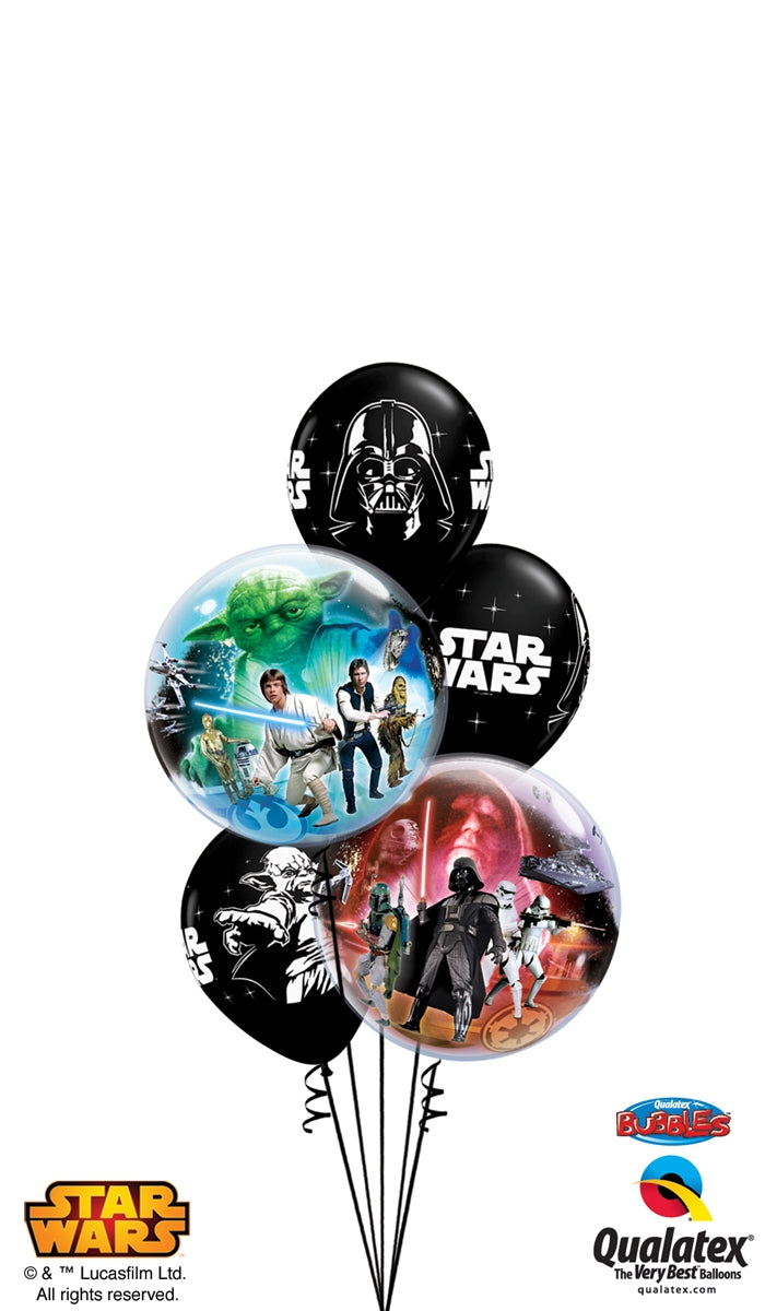 Star Wars Bubbles Balloon Bouquet
