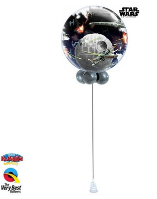 Star Wars Death Star Double Bubbles Balloon Centerpiece