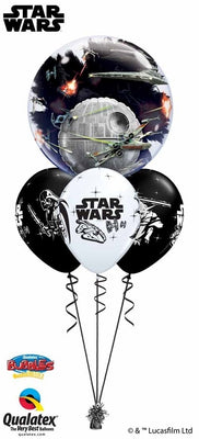 Star Wars Death Star Double Bubbles Birthday Balloon Centerpiece