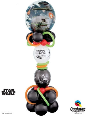 Star Wars Death Star Double Bubbles Birthday Balloon Stand Up