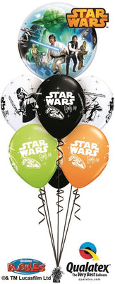 Star Wars Luke Skywalker Darth Vader Bubbles Birthday Balloon Bouquet