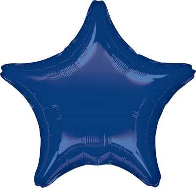 18 inch Navy Blue Star Foil Helium Balloon