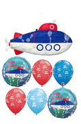 Submarine Happy Birthday Balloon Bouquet