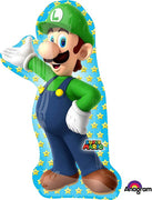 38 inch Super Mario Brothers Luigi Shape Foil Balloons