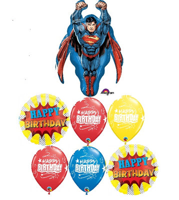 Superman Happy Birthday Balloon Bouquet