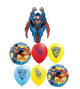 Superman Happy Birthday Balloons Bouquet