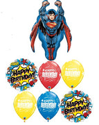 Superman Birthday Stars Balloon Bouquet