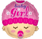 Sweet Baby Girl 18 inch Foil Balloons