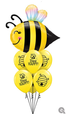 Sweet Bee Birthday Balloons Bouquet