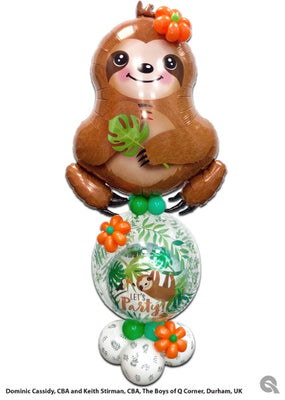 Sweet Sloth Balloon Stand Up