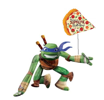 Teenage Mutant Ninja Turtles Leonardo Airwalker Birthday Pizza