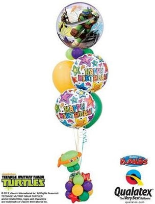 Teenage Mutant Ninja Turtles Birthday Balloon Bouquet Stand Up