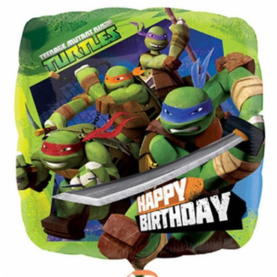 Teenage Mutant Ninja Turtles Happy Birthday 18 inch Foil Balloon