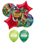 Teenage Mutant Ninja Turtles Rise Raphael Birthday Balloon Bouquet