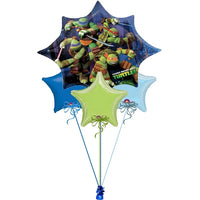 Teenage Mutant Ninja Turtles Stars Balloon Bouquet