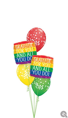 Thank You Grateful For You And All You Do Balloons Bouquet of 7