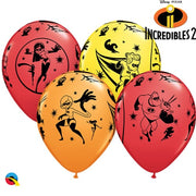The Incredibles 2 11 inch Printed Latex Balloons