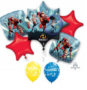 The Incredibles 2 Birthday Balloon Bouquet