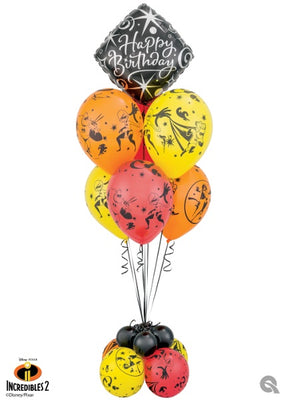 The Incredibles 2 Birthday Balloon Bouquet Stand Up