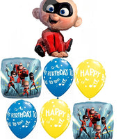The Incredibles 2 Baby Jack Happy Birthday Balloons Bouquet