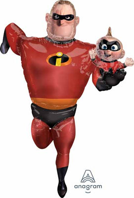 The Incredibles 2 Mr Incredible and Baby Jack Airwalker Balloon
