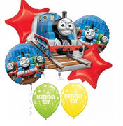 Thomas the Tank Engine Train Birthday Boy Balloon Bouquet