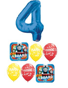 Thomas the Tank Engine Train Blue Number Pick An Age Birthday Balloon Bouquet