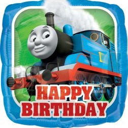 Thomas the Tank Engine Train Happy Birthday 18 inch Foil Balloon
