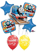 Thomas the Tank Engine Train Stars Birthday Balloon Bouquet
