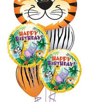 Jungle Tiger Birthday Balloon Bouquet