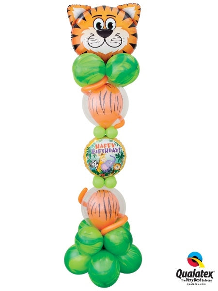 Jungle Tiger Birthday Balloon Stand Up 3