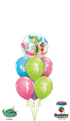 Tinker Bell Bubble Balloon Bouquet 1