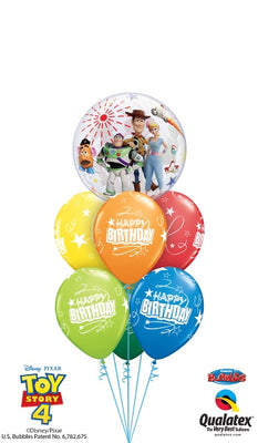 Toy Story 4 Birthday Stars Balloon Bouquet