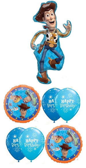 Toy Story 4 Woody Happy Birthday Balloon Bouquet