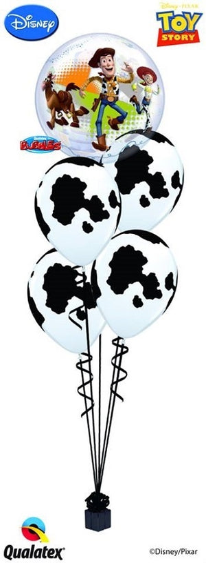 Toy Story Bubbles Cowhide Balloon Bouquet