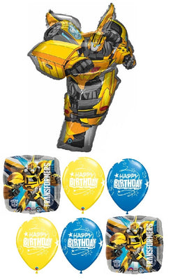 Transformers Bumble Bee Birthday Balloon Bouquet
