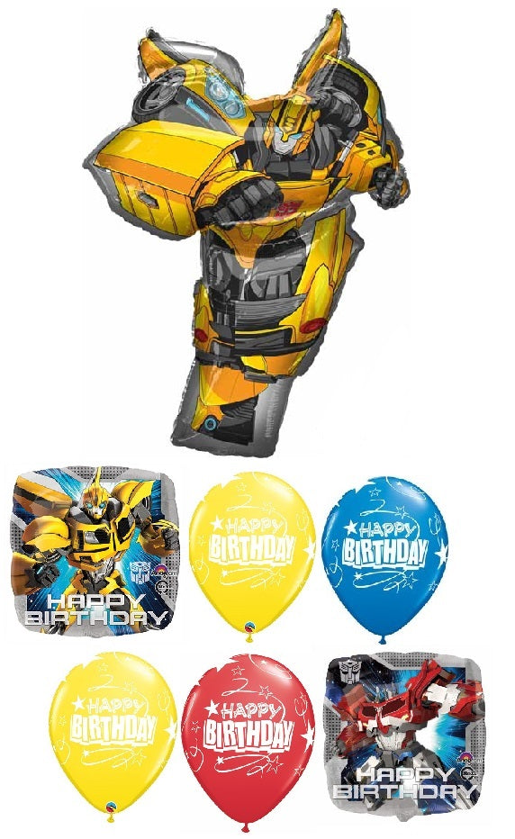 Transformers Bumble Bee Happy Birthday Balloon Bouquet